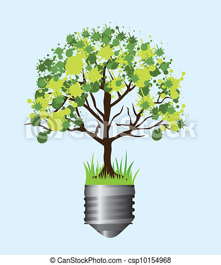ecological illustration  - csp10154968