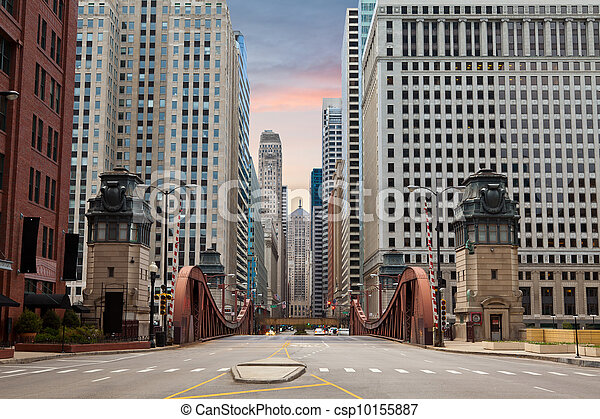 Street of Chicago. - csp10155887