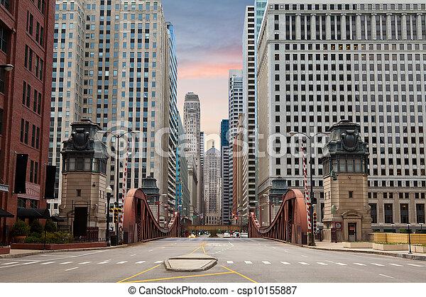 Street of Chicago. - csp10155887