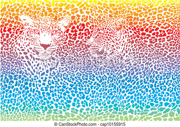 leopard drawing in color