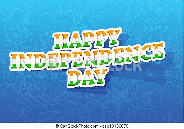 Happy Independence Day - csp10156070