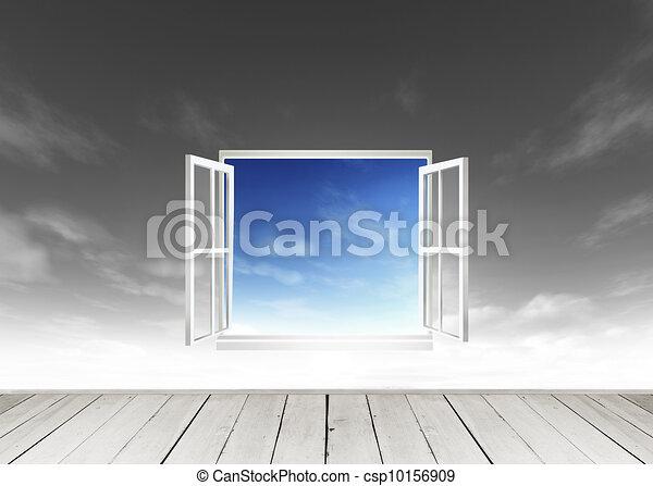 Illustration de bois terrasse fen tre regarder dehors for Mondiale fenetre