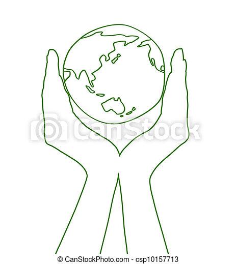 保护环境招贴简笔画
