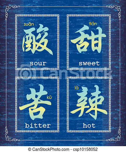 Chinese character symbol-taste - csp10158052