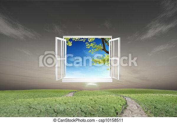 Illustration fen tre ouvert nouveau mondiale ambiant for Mondiale fenetre