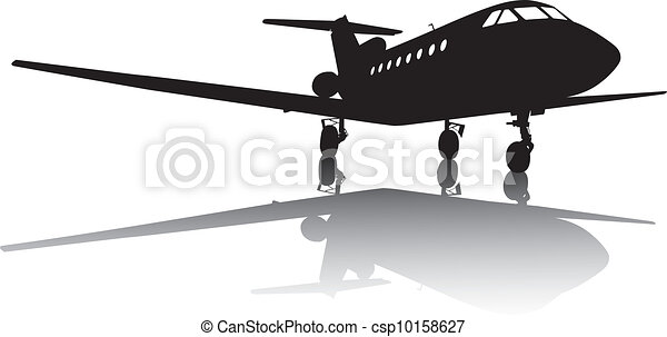 Aircraft silhouette - csp10158627