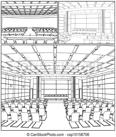 Conference Hall Interior - csp10158706