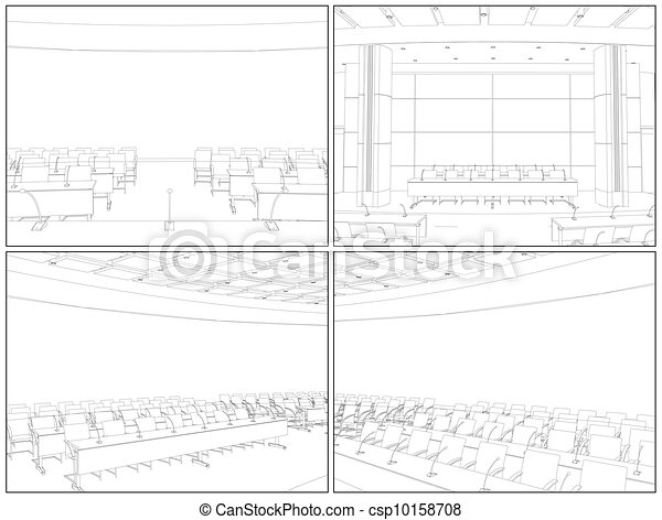 Conference Hall Interior - csp10158708