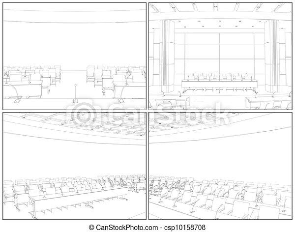 Conference Hall Interior - csp10158708