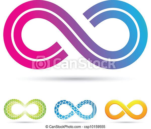 retro style infinity symbol - csp10159555