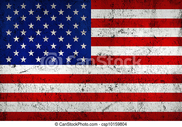Grunge Dirty and Weathered USA (American) Flag - csp10159804