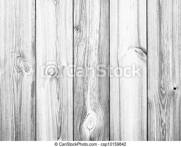 White Wood Planks as Background or Texture - csp10159842