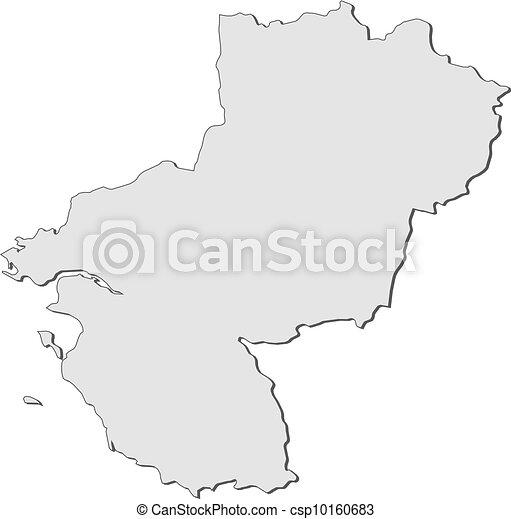 Map of Pays de la Loire (France) - csp10160683