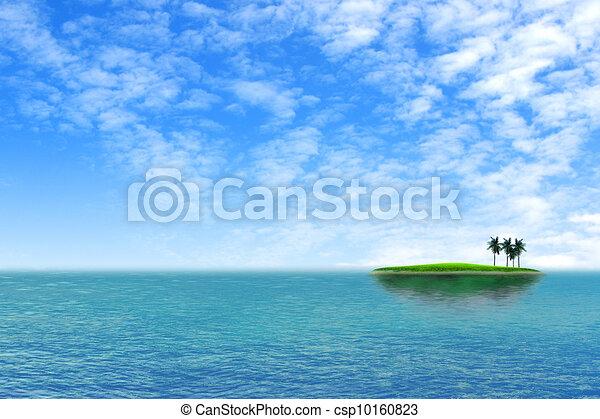 Alone  Tropical green island - csp10160823