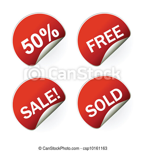 sales sticker tag with discounted percentage - csp10161163