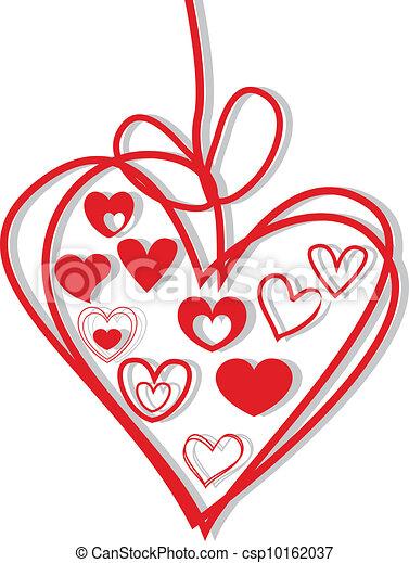 hearts background - csp10162037