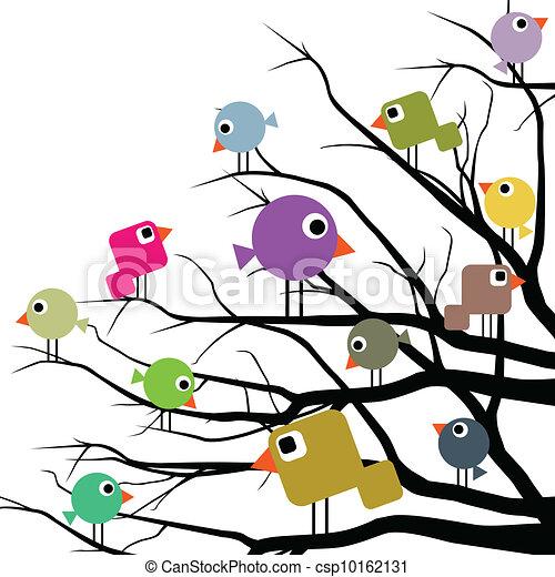 Cheerful birds - csp10162131