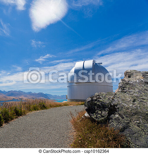Domed astronomy observatory on mountain top - csp10162364