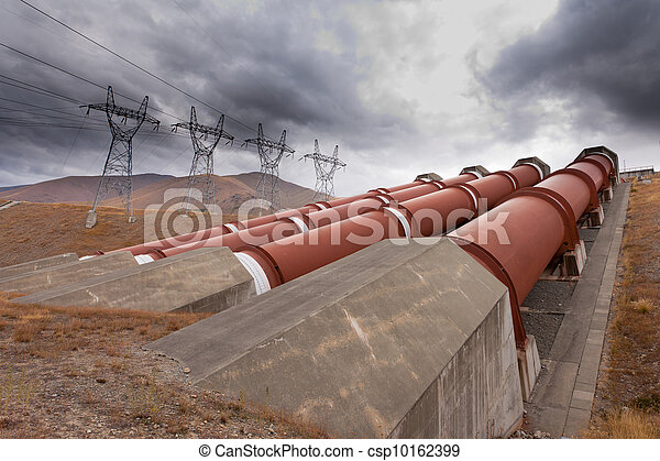 Hydroelectric plant in renewable energy concept - csp10162399