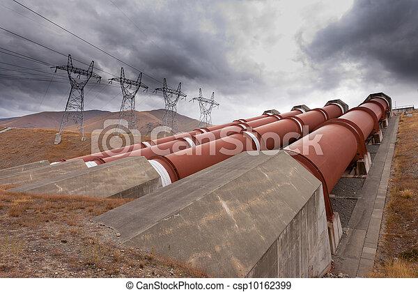 Hydroelectric plant in renewable energy concept - csp10162399