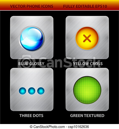 Glossy circles mobile app icons - csp10162636