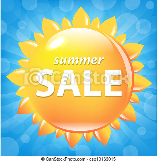 Summer Sale Poster With Sun - csp10163015