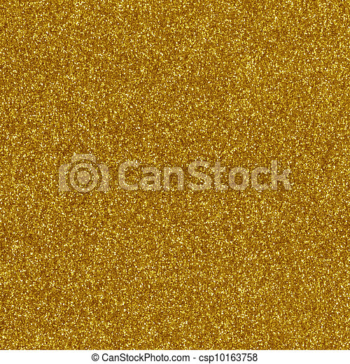 Gold glitter texture macro close up - csp10163758