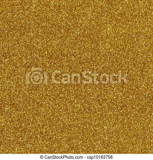 Gold glitter texture macro close up - csp10163758