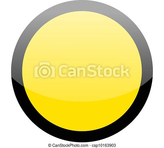 Blank circle yellow hazard warning sign - csp10163903