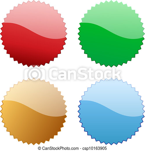 Blank glossy icon tag - csp10163905