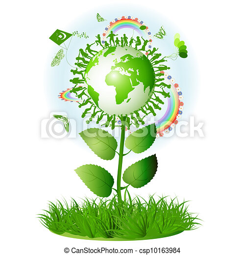 Vector of symbol with mother earth ecological symbol with mother csp10163984 search clip - Mother earth clipart ...