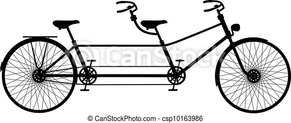 Retro tandem bicycle - csp10163986