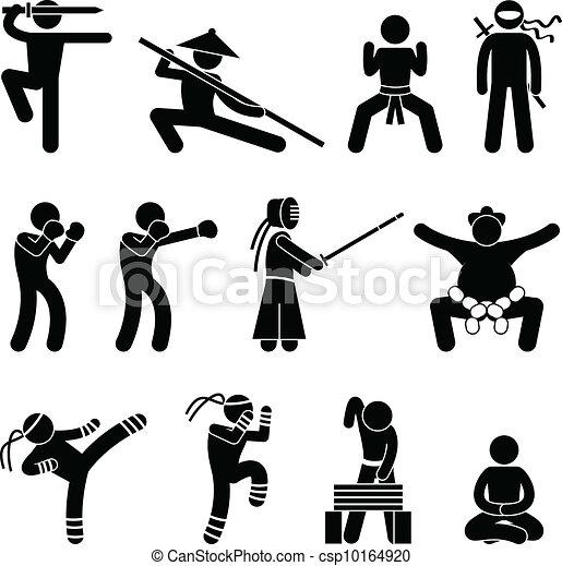 Kung Fu Martial Arts Self Defense - csp10164920