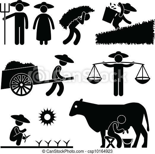 Farm Farmer Worker Farming - csp10164923