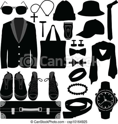 Man Male Clothing Wear Accessories - csp10164925