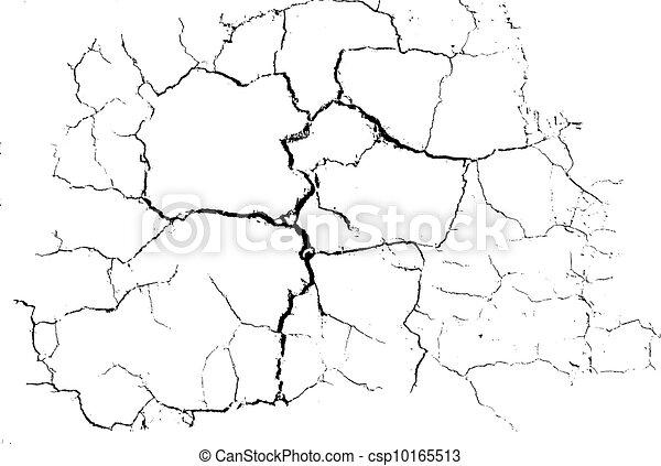 Cracked Desert Floor Pattern, vect - csp10165513