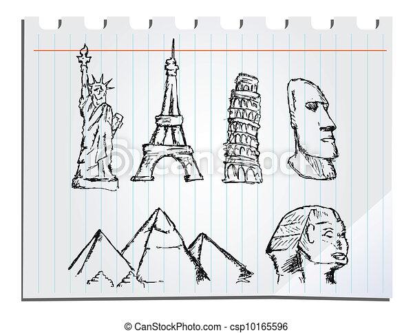 hand drawn landmarks - csp10165596