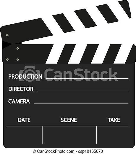 Vector Illustratie van film, klep, black, witte, Ontwerp ...