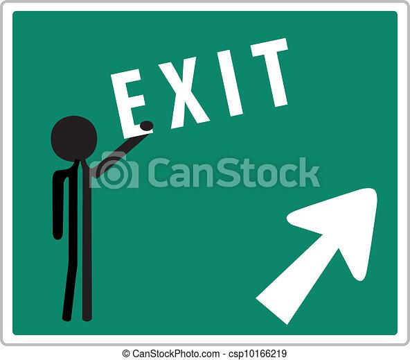 exit sign - csp10166219