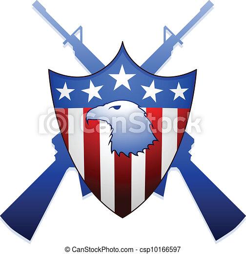 United States shield - csp10166597