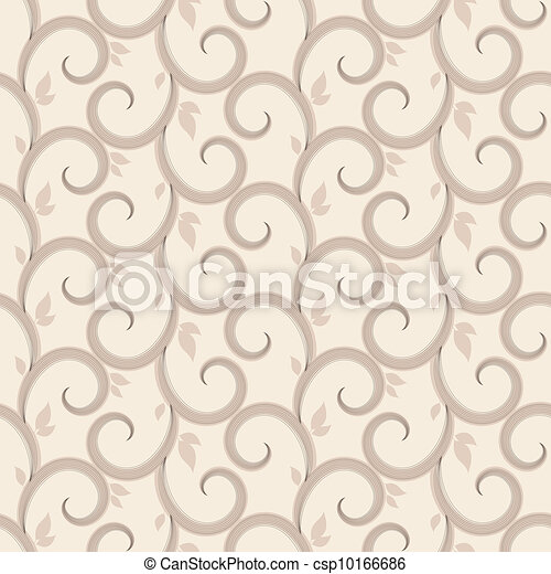 Vector seamless pattern with swirls - csp10166686