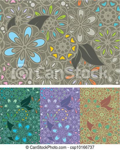 Seamless floral pattern - csp10166737