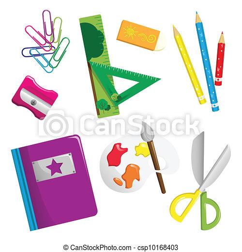School supplies icons - csp10168403