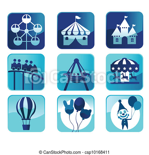 Theme park icons - csp10168411