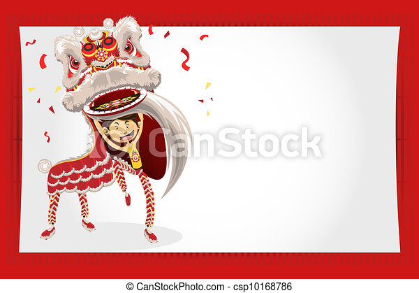 Lion Dancing Clipart Chinese Lion Dancing an