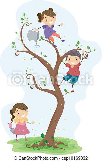 Gardening Kids - csp10169032