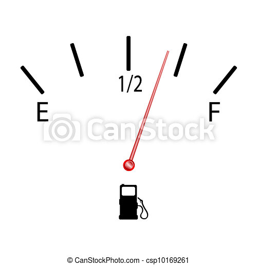 fuel gauge with symbol vector illustration - csp10169261
