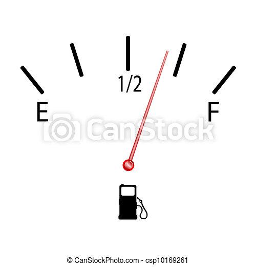 fuel gauge with symbol vector illustration - csp10169261