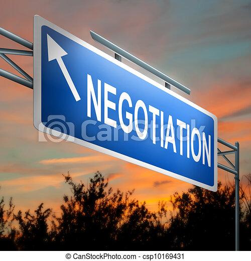 Negotiation concept. - csp10169431