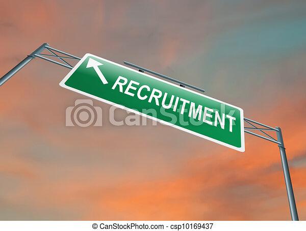 Recruitment concept. - csp10169437